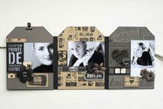 TRIPTYQUE VS - PAT (3) Version Scrap, Mini Albums Scrapbook, Home And Deco, Paris, Bookends, Photos, Gifts, Gift Ideas, Box