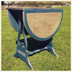 """""""#ascp #antique #anniesloan #aubussonblue #blue #chalkpaint #coffeetable #distressed #dropleaftable #distressedfurniture #etsy #forsale #gold #handpainted #instahome #loveit #morethanpaint #paintedfurniture #prettyuniquefurniture #refurbished #rubnbuff #shabby #shabbychic #stencilled #table #upcycled #vintage"""" Photo taken by @prettyuniquefurniture on Instagram, pinned via the InstaPin iOS App! http://www.instapinapp.com (04/14/2015)"""