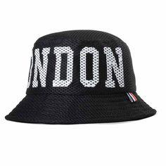 e5daf18f781 Men Women Black London Letters Bucket Hat Travel Sun Beach Fisherman  Fishing Cap  Unbranded
