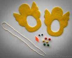 Askartelijan idealaari: Pääsiäistipu askarteluhuovasta Baby Sensory, Toddler Play, Easter Crafts For Kids, Chinese New Year, Hobbies And Crafts, Fathers Day, Symbols, Activities, Textiles