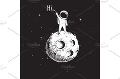 astronaut stay on planet by VectorMaster on @creativemarket