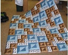 Please Share0000The Magic Squares Quilt Pattern Gives a 3D Affect To The Finished Piece. Create an optical illusion piece at a time. By using contrasting material, strategically placed, the finished quilt has a 3-D appearance to it. The quilt fabric consists of 3 light fabrics, 3 dark fabrics and 2 border colors. The pattern for …