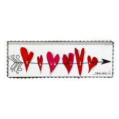Gallery Arrow & Heart Canvas