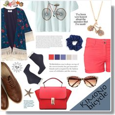Kimono bicycle by artistic-biscuit on Polyvore featuring polyvore fashion style MANGO H&M Dorothy Perkins Oasis River Island Natasha Couture Nicole