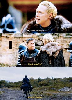 Jaime and Brienne 7x07 - Game of Thrones I didn't think about it at the time, but Jamie did just what brienne told him to do.