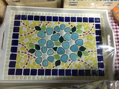 best ideas about Mosaic tray Mosaic Tray, Mosaic Tables, Mosaic Pieces, Crafty Craft, Decoupage, Coasters, Creations, Ceramics, Mosaic Ideas