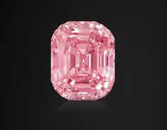 The Graff Pink is a rare, flawless 23.88 carat, emerald- cut Fancy Intense Pink diamond.  Its early history unknown, it was sold in the 1950s by famed jeweller Harry Winston to a private collector.  In 2010, the stone turned up at auction and was sold to diamond dealer Laurence Graff for $46 million, making it the most expensive single jewel ever sold at auction.
