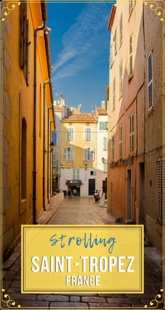 If you are hopping from one town on the to the next, make sure to take some time and stroll along the charming streets of Saint-Tropez. Here is what to see along the French coast. Europe Travel Guide, France Travel, Travel Guides, Travel Destinations, Provence, St Tropez France, France Photography, European Destination, Saint Tropez