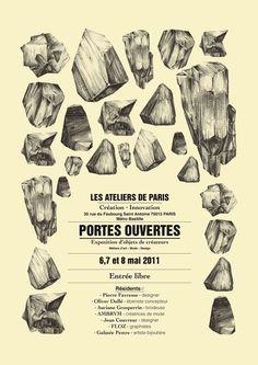 PORTES OUVERTES / OPEN DAYS - ATELIERS DE PARIS 2011 by FLOZ , via Behance