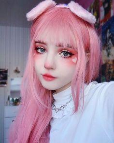 eye makeup for almond shaped eyes eyeshadows - eye makeup for almond shaped eyes Edgy Makeup, Makeup Inspo, Makeup Art, Makeup Inspiration, Beauty Makeup, Lolita Makeup, Pastel Goth Makeup, Makeup Eyes, Anime Makeup