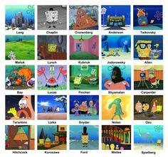 Directors as Sponge Bob screen shots