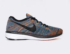 Nike Flyknit Lunar 3 Bleu Orange - Livraison gratuite
