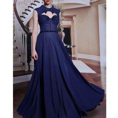 Navy Blue Maid of Honor Dresses,Floor-Length Sleeveless Wedding