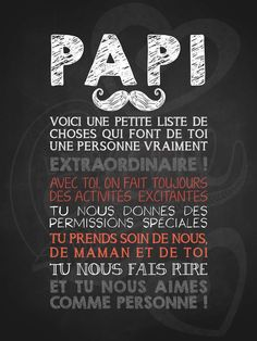Affiche personnalisée pour la fête des pères Papi moustachu extraordinaire! | 15,00$ #lacraieco #chalkboard #fetedesperes Silhouette Portrait, Silhouette Cameo, Printable Crafts, Printables, Image T, Flylady, Puffy Paint, Quote Citation, Poker Games