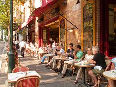 Parc restaurant on Rittenhouse Square.  The charming cafes and restaurants surrounding the area add variety!
