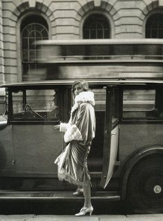 """Clothes and the Car..At the Theatre"""", photo by Cecil Beaton for Vogue, 1927"""