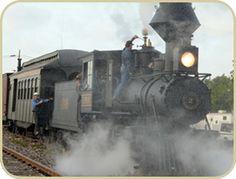 Orange Blossom Cannonball Steam Train
