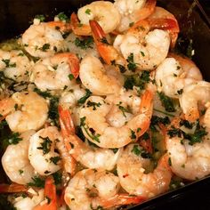 Garlic Shrimp Scampi 1 pound shrimp, tails-on, uncooked 3 Tbsp. organic butter, melted 1 Tbsp. extra-virgin olive oil 6 cloves garlic, finely minced 1/2 C. fresh parsley, minced juice…