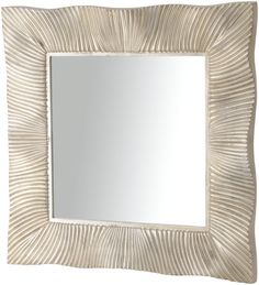 Pairing a bevelled looking glass and ridged frame for a unique optical effect, the Shimmering silver mirror creates an entrancing illusion of shadows and light for a superb addition to any wall. Mirror Mirror, Decorative Accessories, Shadows, Illusions, Texture, Unique, Glass, Frame, Wall