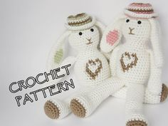 Amigurumi bunny crochet pattern  rabbit stuffed toy  by ByMarika