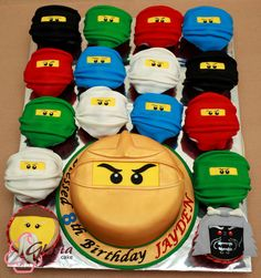 Ninjago Cupcakes und Kuchen Ninjago cupcakes and cakes # Children's birthday Ninja Birthday Cake, Ninja Cake, Ninja Birthday Parties, 5th Birthday, Lego Parties, Birthday Cakes, Birthday Ideas, Lego Ninjago Cake, Ninjago Party