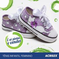 Tênis infantil feminino: http://www.acrilex.com.br/esopintarevender/pap-tenis-infantil-feminino.php