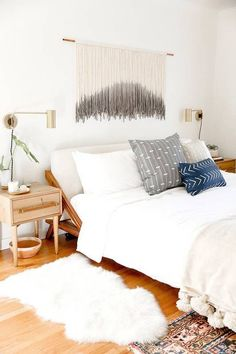 light + airy boho bedroom