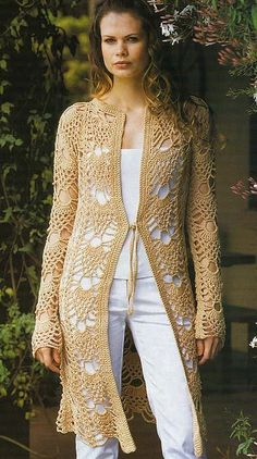 Crochet Sweater: Crochet Lace Cardigan Free Pattern – Stylish See other ideas and pictures from the category menu…. Faneks healthy and active life ideas Gilet Crochet, Crochet Coat, Crochet Cardigan Pattern, Crochet Tunic, Crochet Jacket, Lace Cardigan, Crochet Clothes, Crochet Sweaters, Summer Cardigan