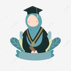 Islamic Cartoon, Love Backgrounds, Muslim Women, Clipart Images, Prints For Sale, Art Girl, Graduation, Women Wear, Photoshop