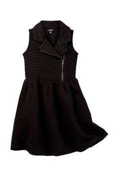 Quilted Moto Dress (Big Girls)