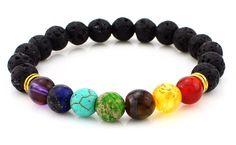 Kassie Lava Rock Bracelet (all colors)