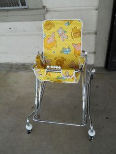 My daughter was born in 75 and this is the type of walker she had then. Now it would be considered dangerous.