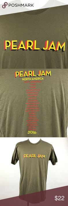 0a182d255c50 Pearl Jam 2016 North America Tour T-Shirt SZ Large Pearl Jam 2016 North  America