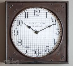 Bliss Ranch: Restoration Hardware inspired Clock Knock-Off