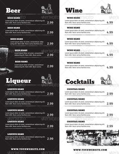 Drink Menu - Mix Club - Bundle #Menu, #Drink, #Mix, #Bundle