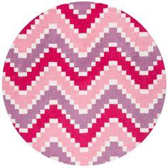 Heavenly Pink 4 Ft Round Indoor Area Rug