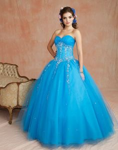 Prom Dresses New Arrival Quinceanera Dresses Sweetheart Floor Length With Beading Sequins Applique , You will find many long prom dresses and gowns from the top formal dress designers and all the dresses are custom made with high quality Cheap Quinceanera Dresses, Cheap Gowns, Quinceanera Party, Blue Ball Gowns, Ball Dresses, Sweet 16 Dresses, Pretty Dresses, Blue Wedding Dresses, Bridal Dresses