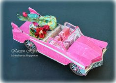 My Craft and Garden Tales: A pink paper Cadillac - Sept 2013