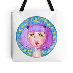 PISCES #zodiacsign #zodiac #pisces #totebag #watercolor #painting #redbubble