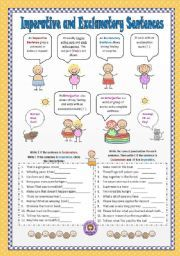 Worksheets Imperative And Exclamatory Sentences Worksheet curso de ingles para cosas que comprar pinterest html english worksheet imperative and exclamatory sentences