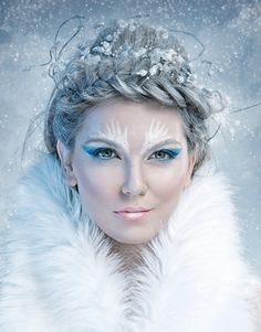 The Ice Princess Ultra cool blonds makes a statement in this beautifully braided updo!