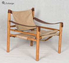 """Arne Norell """"Sirocco""""Safari chairs with canvas and leather"""