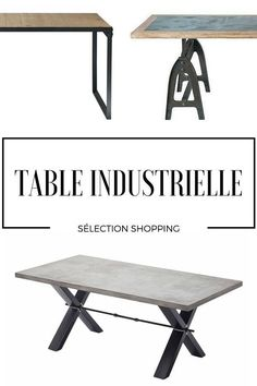 Table Industrielle : Sélection Shopping Vintage Industrial Decor, Lights, Furnitures, Shopping, Architecture, Decoration, Home Decor, Tools, Industrial Tv Stand