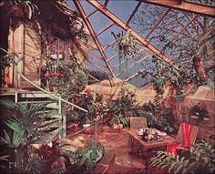 1963 Attached Greenhouse by American Vintage Home, via Flickr