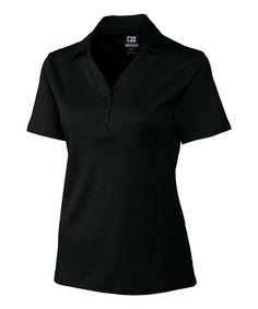 This Cutter & Buck Black DryTec Luxe Element Jacquard Polo - Women by Cutter & Buck is perfect! #zulilyfinds