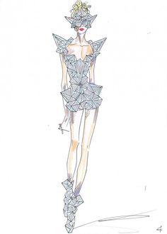 Giorgio Armani: Lady Gaga Fashion Sketches