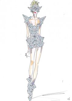 Giorgio Armani: Lady Gaga Fashion Sketches