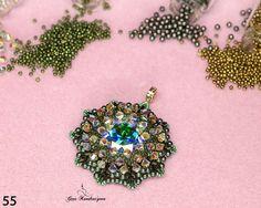 Делаем объёмный кулон «Water lily» с кристаллом Swarovski - Ярмарка Мастеров - ручная работа, handmade