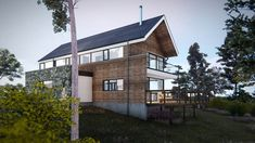 The design of the proposed dwelling house reflects a traditional farmhouse building. Garage House, Modern House Design, Architects, Building A House, House Plans, Farmhouse, Traditional, Mansions, House Styles