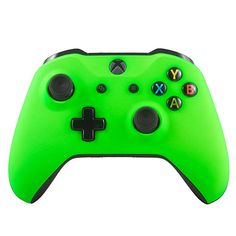 Xbox One S Wireless Bluetooth Controller For Microsoft Xbox One Custom Soft Touch Green Xbox Controller, Xbox One S, Arts And Entertainment, Pretty Cool, My Room, Microsoft, Bluetooth, Green, Touch